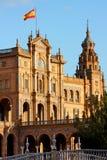 plaza séville Espagne de de espana Photographie stock libre de droits