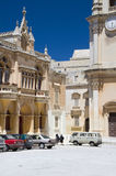 plaza s SAN ST της Μάλτας Paul καθεδρικώ& Στοκ Φωτογραφία