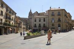 Plaza in Salamanca Royalty Free Stock Photos