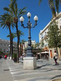 Plaza San Juan de Dios, Cádiz. The square of San Juan de Dios is on the port side of Cádiz and amongst other things is host to many bars and restaurants plus Stock Photos