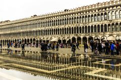 Plaza San Marco de Venecia, Italia foto de archivo