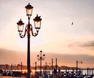 Plaza San Marco en la salida del sol fotografía de archivo libre de regalías
