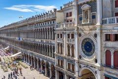 Plaza San Marco en Venecia, Italia Imagen de archivo libre de regalías