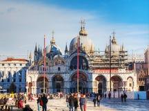 Plaza San Marco encendido en Venecia Fotos de archivo
