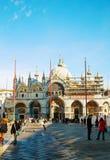 Plaza San Marco encendido en Venecia Foto de archivo