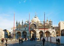 Plaza San Marco encendido en Venecia Imagen de archivo libre de regalías