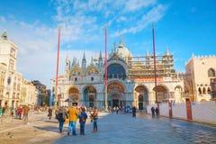 Plaza San Marco encendido en Venecia Fotografía de archivo