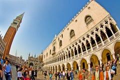 Plaza San Marco - la Plaza de San Marcos en Venecia Imagen de archivo
