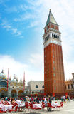 Plaza San Marco, Venecia Foto de archivo libre de regalías