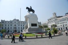 Plaza SAN Martin - Λίμα, Περού Στοκ Φωτογραφία