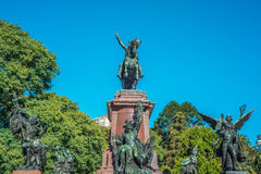Plaza San Martin in Buenos Aires, Argentina. Stock Image