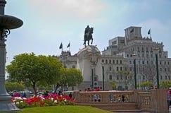 Plaza San Martin, historic center, Lima, Perú Royalty Free Stock Photos