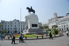Plaza San Martin - Lima, Peru Stock Photography