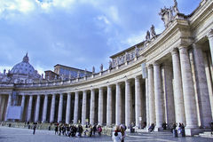 Plaza San Pedro, Vaticano, Italia Fotos de archivo libres de regalías