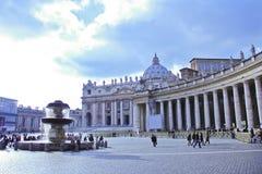 Plaza San Pedro, Vaticano, Italia Foto de archivo libre de regalías