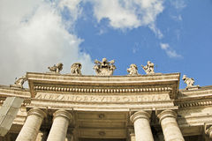 Plaza San Pedro, Vaticano, Italia Fotografía de archivo