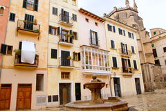 Plaza sant Jeroni in  Majorca Royalty Free Stock Photo