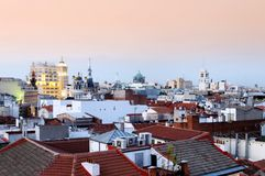Plaza Santa Ana view. View from Plaza Santa Ana in Madrid, Spain stock images