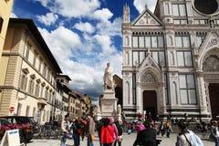 Plaza Santa Croce Foto de archivo libre de regalías