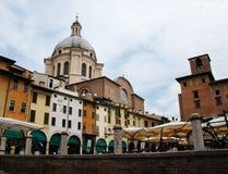 Plaza Sordello en Mantova Fotos de archivo