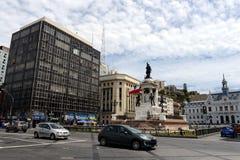 Plaza Sotomayor στο κέντρο valparaÃso Στοκ Φωτογραφίες