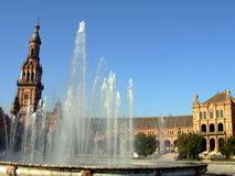 Plaza Spain. Plaza de espana in seville, andalusia region of spain Royalty Free Stock Photos