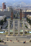 Plaza of Spain, in Barcelona Royalty Free Stock Photo