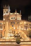plaza spain för cibelesde madrid Arkivbilder
