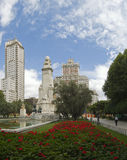 Plaza Spain Madrid Stock Photo