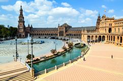 Plaza of Spain, Seville, Andalusia, Spain royalty free stock images
