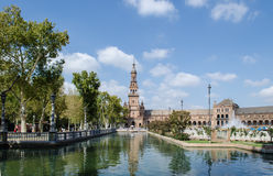 Plaza of Spain, Seville. Plaza de Espana Spain square in Seville, Andalusia Spain Royalty Free Stock Images
