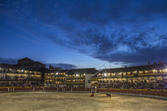 Plaza square Mayor of Chinchon adapted as a bullring, Spain Royalty Free Stock Photos