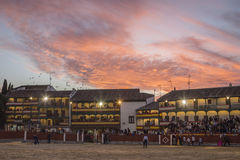 Plaza square Mayor of Chinchon adapted as a bullring, Spain Royalty Free Stock Photo