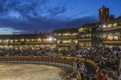 Plaza square Mayor of Chinchon adapted as a bullring, Spain Stock Images