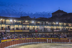 Plaza square Mayor of Chinchon adapted as a bullring, Spain Royalty Free Stock Photography