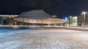 Plaza stage in Hannover Expo Plaza Royalty Free Stock Images