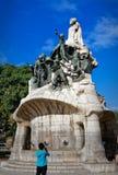Plaza Tetuan em Barcelona, Espanha imagem de stock