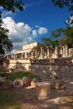 Plaza of the Thousand Columns. Chichen Itza, Mexico Stock Photos