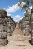 Plaza of a Thousand Columns, Chichen Itza. Plaza of a Thousand Columns, believed to have been used for civic as well as religious purposes, is a part of the Maya Stock Photo