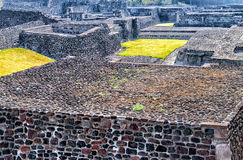 Plaza of Three Cultures. Aztec Archaelogical Site Mexico City Mexico Stock Images