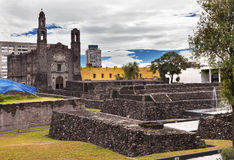 Plaza Three Cultures Aztec Site Mexico City Mexico Stock Images