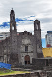 Plaza of Three Cultures Catholic Church Mexico City Mexico Royalty Free Stock Photography