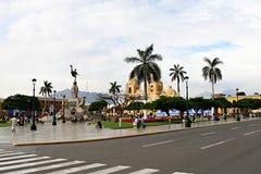 plaza trujillo för armasde peru Royaltyfria Foton