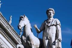 Plaza Venezia de la estatua Imagen de archivo