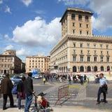 Plaza Venezia de Roma Imagen de archivo libre de regalías