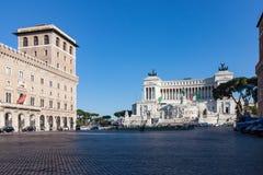 Plaza Venezia en Roma Italia imagen de archivo