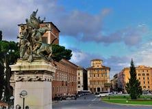 Plaza Venezia, Roma Imagen de archivo