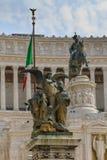 Plaza Venezia, Roma Foto de archivo libre de regalías