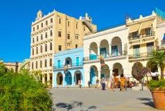 Plaza Vieja, Αβάνα, Κούβα Στοκ Εικόνες