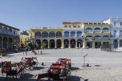 Plaza Vieja και Calle Mercaderes στην Αβάνα, Κούβα Στοκ Εικόνες